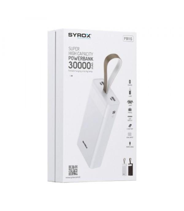 Syrox 30.000 Mah LED Işıklı Powerbank Yedek Batarya Hızlı Şarj